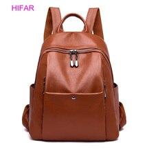 все цены на New Classic Women Backpack High Quality Leather Backpacks School Bags For Teenage Girls Bagpack Mochila Feminina Sac A Dos Femme онлайн