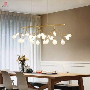 Image 3 - Firefly Pendant Lamp Olive Branch Hanging Lights Art Home Decorative LED Europe Style Petal AC110/220V Foyer Living Dinning Room
