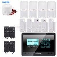 Wireless And Wired GSM Home Burglar Alarm System 5 Door Inturder Sensor 4 Motion Sensor 4