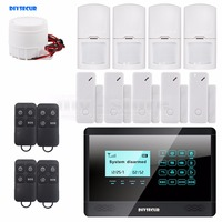 Wireless And Wired GSM Home Burglar Alarm System 5 Door Inturder Sensor 4 Motion Sensor 4