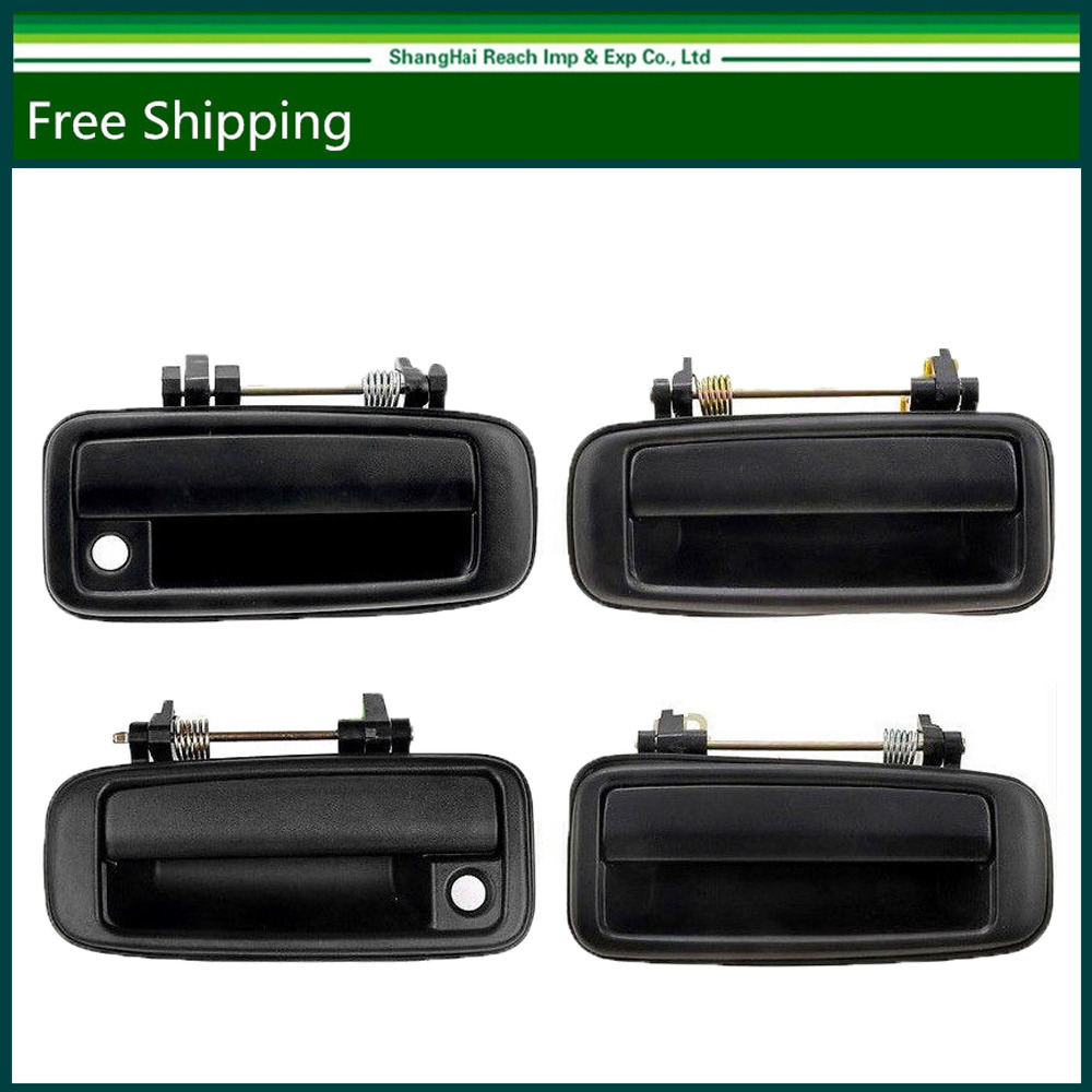 New black outside exterior door handle for toyota corolla 1988 1992 set of 4 pcs oe 6924012110 6923012110 6922012110 6922012110