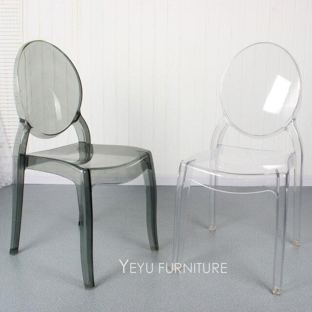 344 84 Moderne Empilable Design Transparent En Polycarbonate Transparent Acrylique Salle A Manger Chaise Design De Mode En Cristal Clair Pile