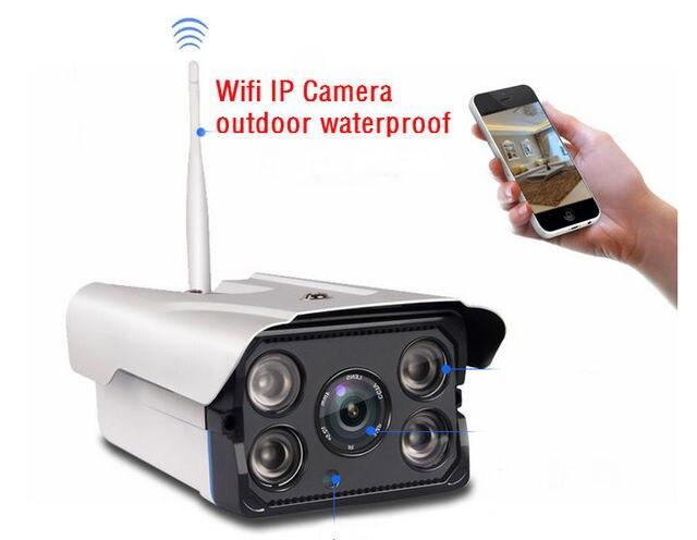 720 P HD Открытый Водонепроницаемый Wi-Fi IP Пули Видеонаблюдения CCTV Камеры Беспроводной Onvif WI-FI SD card ИК ночного видения