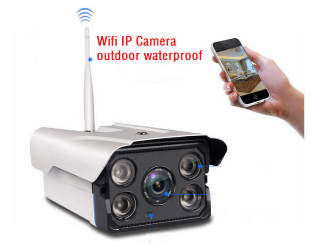 720P HD Outdoor Waterproof WiFi Bullet IP Security Surveillance CCTV Camera Wireless Onvif WIFI SD card IR night vision