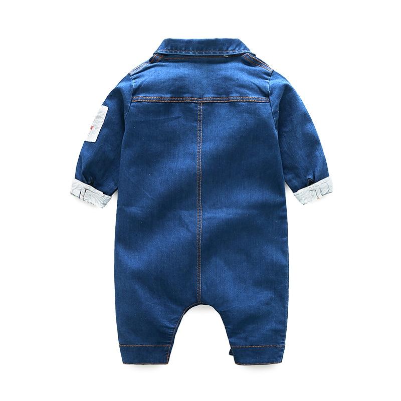 Rompertjes voor Baby Denim jongens Kleren Peuter Lange mouwen romper - Babykleding - Foto 2