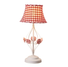 New Girl Table Lamp Fabric Lampshade Lights Led Luminaria Flower For Bedroom Bedside Lamp Romantic Desk For Home Indoor Living
