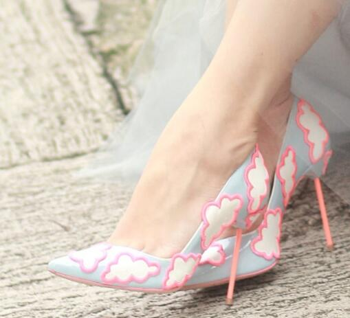 Abesire Women New Design Cloud Embroidery High Heels Dress Wedding Shoes Ladies Pointed Toe Spring Pumps Woman Slip-on ShoesAbesire Women New Design Cloud Embroidery High Heels Dress Wedding Shoes Ladies Pointed Toe Spring Pumps Woman Slip-on Shoes