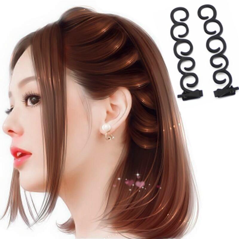Us 1 21 54 Off M Mism 2 Pcs Fashion Ladies Donut Bun Maker Magic Easy Braid Women Korean Round Hair Disk Device Tress Diy Hair Style Tools In Hair