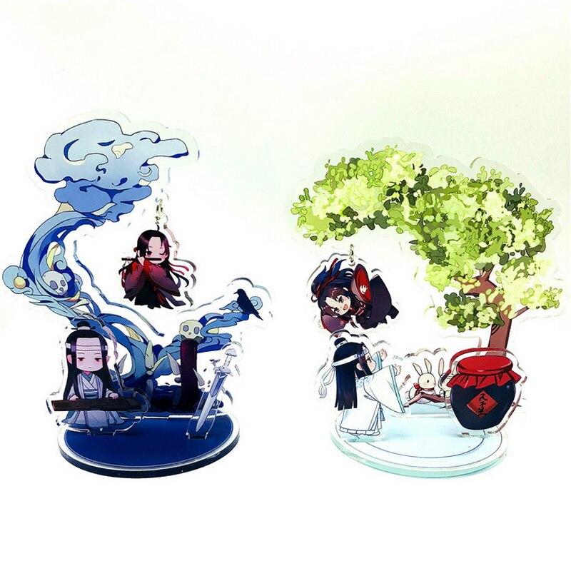 12 tipos de Anime Mo Dao Zu Shi acrílico figura Wei WuXian Lan WangJi el gran maestro de demoníaco soporte casa modelo decoración de escritorio de Series5