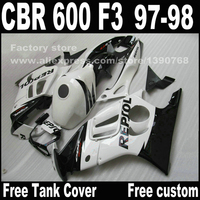 Motorcycle Parts For HONDA CBR 600 F3 Fairings 1997 1998 CBR600 F3 97 98 White