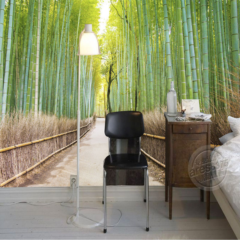 Buy bamboo forest wallpaper natural for Bamboo forest mural wallpaper