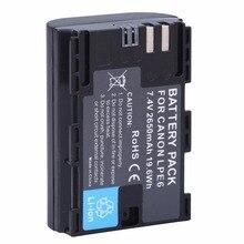 Full coded LP-E6 LPE6 2650mAh Battery Batteria AKKU  For Canon 5D Mark II III and IV 70D 5Ds 6D 5Ds 80D 7D 60D 5Ds R DSLR Camera