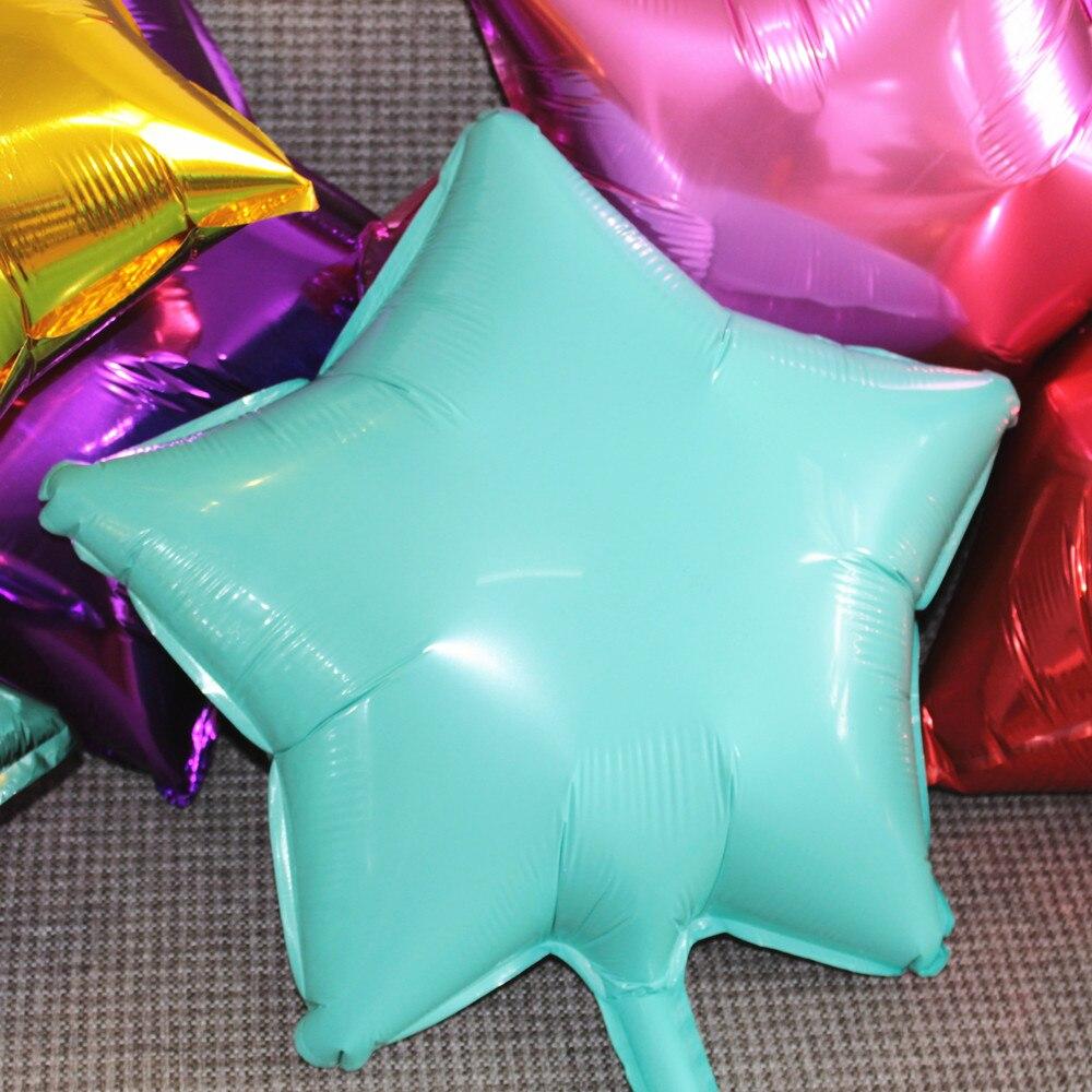 5pc Star Balloons Foil Balloon Birthday Decoration Wedding Party Decoration Turquoise Ballon Baby Kids Children Foil Balls