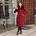 5XL Plus Size Winter Jacket Coat Women 2015 Fashion Fur Collar X-Long Wadded Parkas Women Duck Down Coat Outerwear H5567