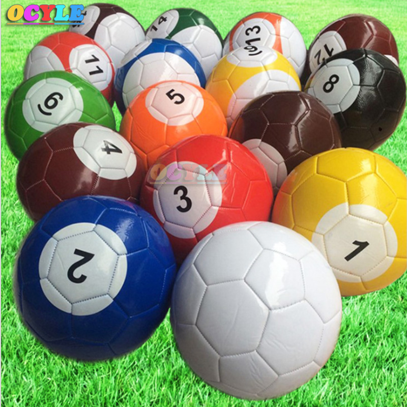 Free Shipping Giant Inflatable Snooker Soccer Ball in Snookball Game,Huge Billiards Ball(Air Pump+16 pcs Soccer Toy) Balls) soccer balls size 4