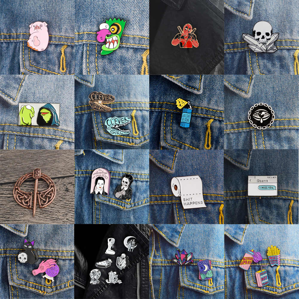 Symbol Of The Brand Xinaher 1pc Creative Cactus Metal Badge Brooch Button Pins Denim Jacket Pin Jewelry Decoration Badge For Clothes Lapel Pins Save 50-70% Arts,crafts & Sewing