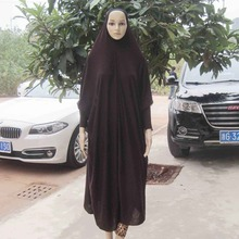 Muslim Women Prayer Dress Maxi Lycra Jilbab abaya ,Wholesale Islamic Khimar,can choose colors,free shipping, PH010