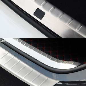 Image 2 - Car Exterior Interior Rearguards Rear bumper Trunk Trim Bumper Pedal Stainless Steel For Toyota Corolla 2014 2015 2016 2017 2018