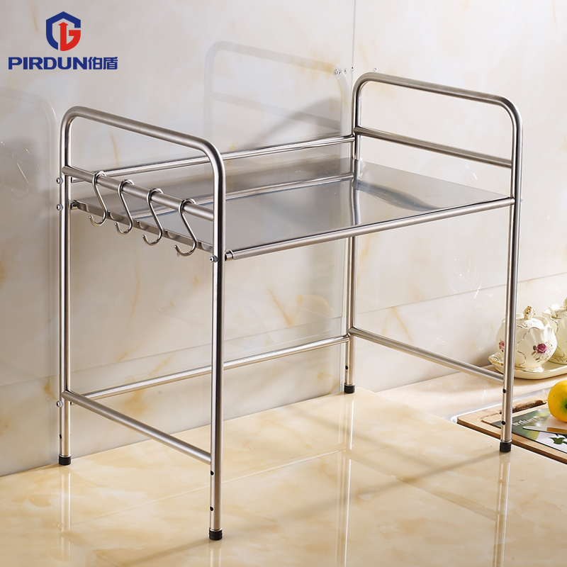 Peter Shield Stainless Steel Shelving Storage Rack Kitchen Countertop  Microwave Stand Widened Hook Pendant In Watchbands From Watches On  Aliexpress.com ...