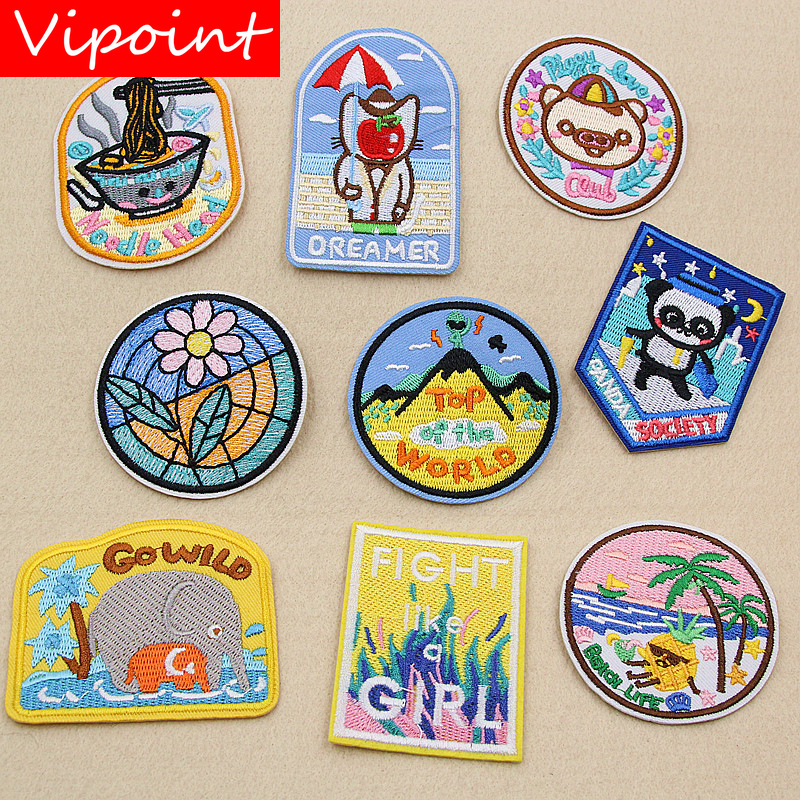 VIPOINT embroidery kids patches cartoon badges applique for clothing XW-29