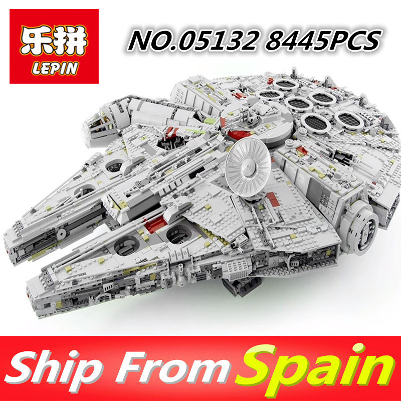Lepin 05132 05007 05028 Star Series War Building Blocks Force Awakens 75105 Millennium Falcon Legoing 75192 Kids Toys 2018 dhl lepin star series war 05007 05033 05132 building blocks bricks model toys compatible 75105 10179 75192 gifts