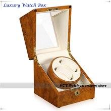 Качество желтый фортепиано дважды автоматические часы намотки и ящик для хранения чехол для лучший рождественский подарок на день рождения GC03-S105YW