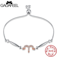 Gagafeel Antique 925 Sterling Silver Charms Aries Bracelets Personality Zodiac Signs Women Wedding Valentine S Day
