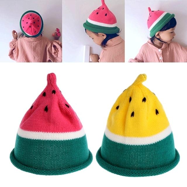 Los niños divertidos invierno sandía punto sombreros Niñas Niños ...