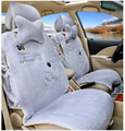 6pcs Cute winter Warm Plush Small Bear universal Car Seat Covers Front and Rear Seat Covers