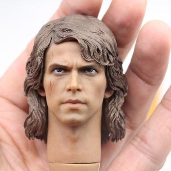 1/6 Scale Anakin Skywalker Head Sculpt Star Male For 12 Hot Toys Figure in stock