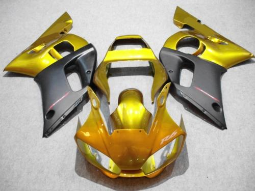 Motorcycle Fairing kit for YAMAHA YZFR6 98 99 00 01 02 YZF R6 1998 2000 2002 YZF600 Golden black ABS Fairings Set+7gifts YX12