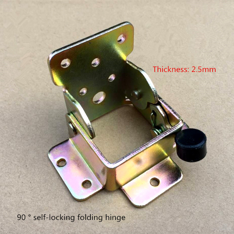 Free shipping hinge, chair, bench, tea table, folding hardware fittings, steel wood furniture hinge, 90 degree self-locking 2pcs set stainless steel 90 degree self closing cabinet closet door hinges home roomfurniture hardware accessories supply