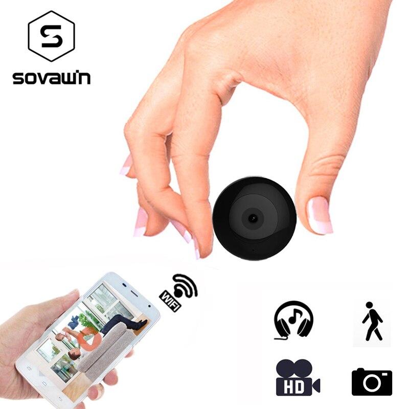 Мини-камера Wifi IP с датчиком движения 720 P Мини-камера Wifi HD ночного видения для iphone Android видео безопасности магнитный зажим