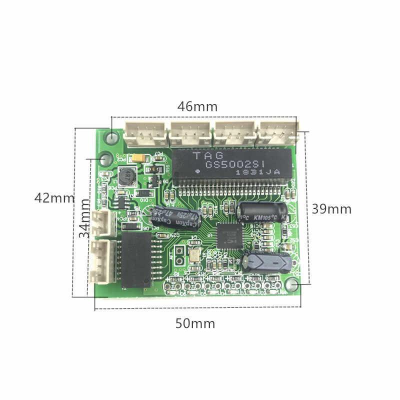 No gestionado 3/5 puertos de 10/100 M interruptor Ethernet industrial para PCBA placa OEM Auto-detección de los puertos PCBA placa OEM de la placa base