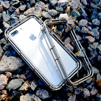 R just New Spring Drop proof Design Metal Stainless Steel Protector Bumper for Iphone 7 8 7 Plus 8 Plus Phone case for iphone