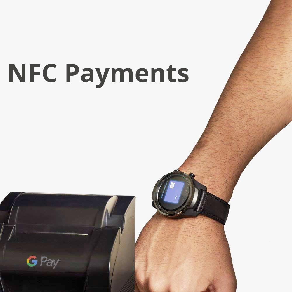 Image 4 - Original Ticwatch Pro montre intelligente NFC Google Pay Google Assistant GPS montre hommes IP68 affichage en couches longue veilleMontres connectées   -