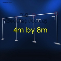 Good Quality 4M*8M Wedding Backdrop Stand \ Pipe Stend For Backdrop Curtain Stainless steel pole