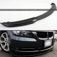 H Style Carbon Fiber front Bumper Lip Diffuser For BMW E90 Standard Bumper 2005~2008