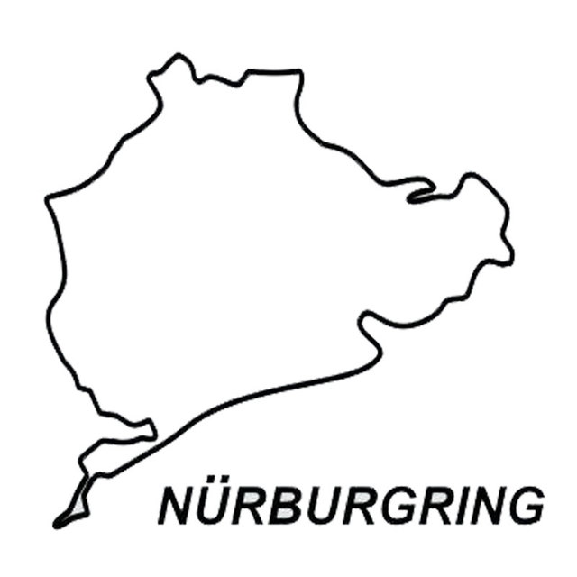 14 3cm 13 5cm nurburgring vinyl creative fashion racing car sticker C1 Car 14 3cm 13 5cm nurburgring vinyl creative fashion racing car sticker decal accessories c5