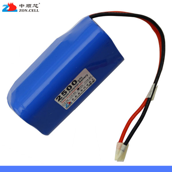In the 2500mAh 12V lithium battery 11.1V battery heater smoke alarm monitoring equipment Rechargeable Li-ion Cell