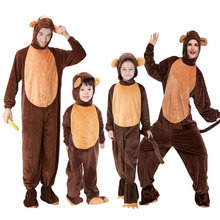 Umorden Animal Costumes Monkey Costume for Child Adult Family Matching Boy Girl Chimp Cosplay Jumpsuit Men Women