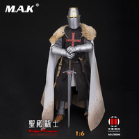 Full set China Toy 1/6 ZH006 Medieval Templar Knight Soldier Figure Model Colletible 12'' Action Figure Model Toy for Collection