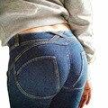 2016 Новый Леггинсы Молния Фитнес Леггинсы женщин Бодибилдинг Push Up Legins Джинсы Jeggings Брюки Размер CK1208