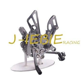 CNC Racing Rearset Adjustable Rear Sets Foot pegs Fit For Aprilia RSV4 RSV4R Tuono V4 R  2009-2016 TITANIUM
