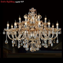 Free Shipping Large chandelier Lighting 18 Arm champage Crystal  K9 crystal Modern Diameter 1.1 M