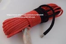 """Livraison gratuite rouge 3/8 """"* 100ft corde synthétique avec crochet, câble de treuil synthétique, 3/8"""" hors route corde, câble de treuil ATV"""