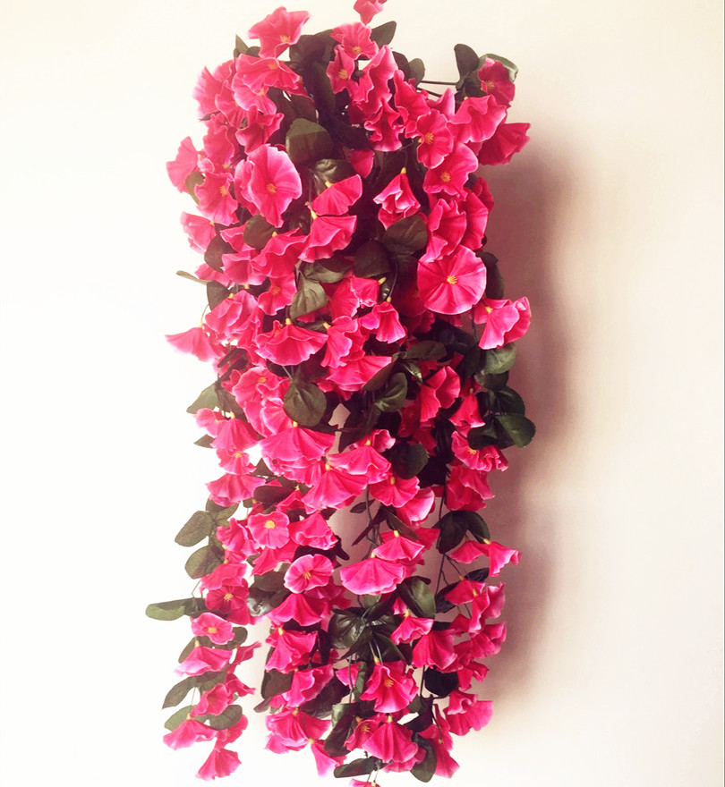 Fake bracket plant petunia rattans trumpet flower vine morning glory fake bracket plant petunia rattans trumpet flower vine morning glory for wedding artificial decorative wall flowers in artificial dried flowers from home mightylinksfo