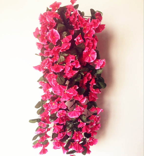 Fake bracket plant petunia rattans trumpet flower vine morning glory fake bracket plant petunia rattans trumpet flower vine morning glory for wedding artificial decorative wall flowers mightylinksfo Image collections