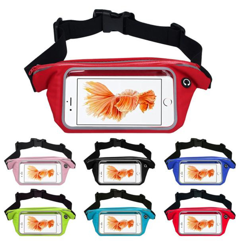 Outdoor Sports Running Waist Bag Utility Gym Fanny Pack Fitness Jogging Belt Bags 5.5 inch Cell Phone Pocket for Men Women #2a (5)