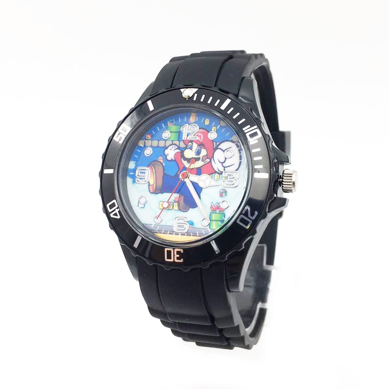 The Avenger Captain America students watches quartz wrist watch for kids cool boys clock black pu strap drop shipping (42)